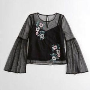 floral sheer top
